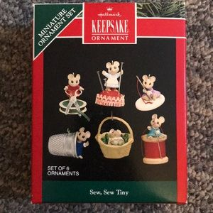 Other - Hallmark Sew, Swe Tiny Mouse Ornaments
